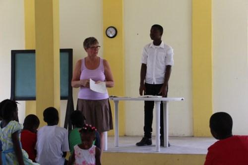 Joan teaching on Psalm 23