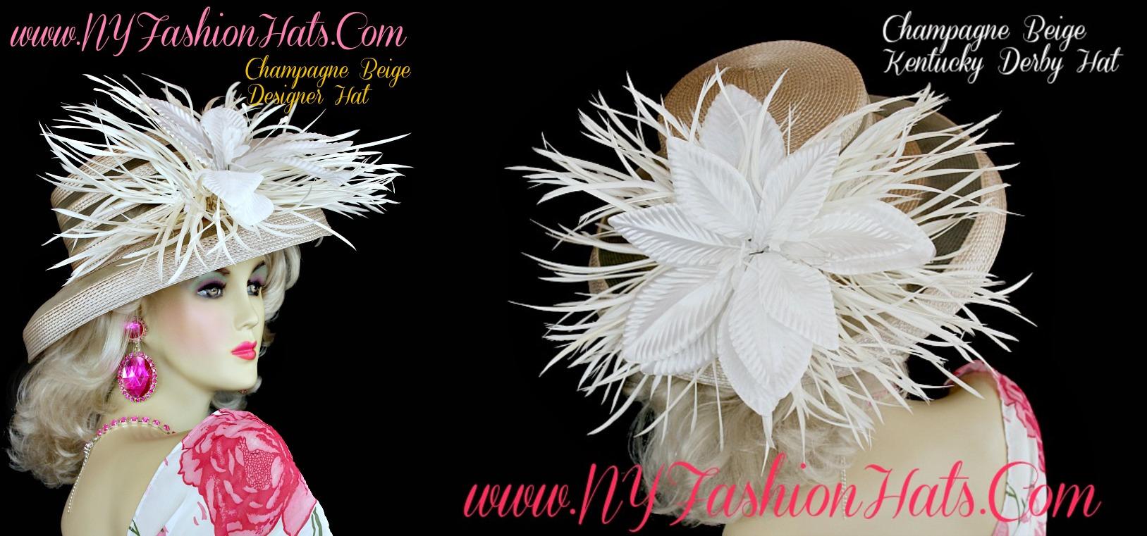 63de4ed33d4 Ladies Dress Hats Kentucky Derby - Parchment N Lead