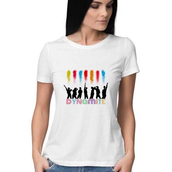 bts dynamite tshirt white