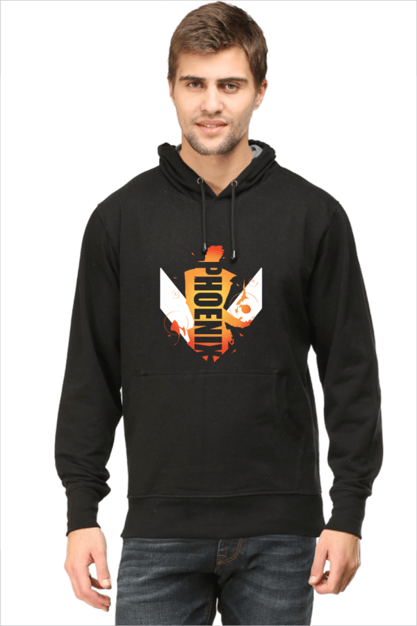 Phoenix - Black - Hooded Sweatshirt - HattsOff