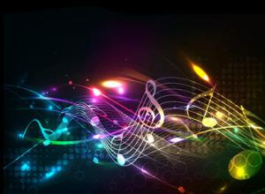 Music colorful music note theme