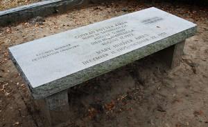 Conrad Aiken Tombstone/Bench