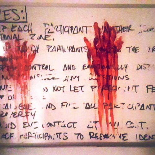 haunting haunting.net immersive theater haunted house the tension experience Darren Lynn Bousman Letters The OOA Institute
