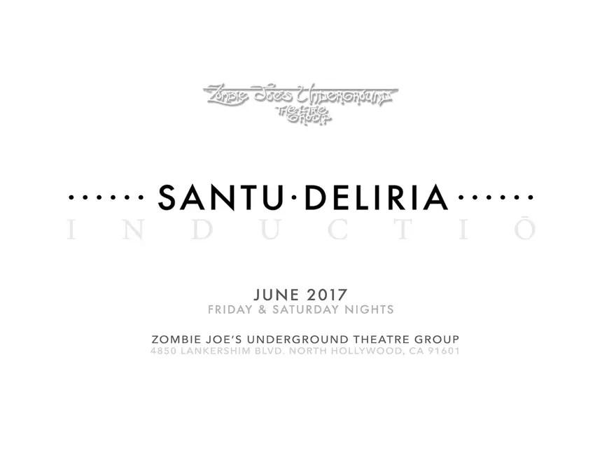 Santu Deliria - inductio - Zombie Joe's Underground - Haunting - Extreme Haunt - Full Contact