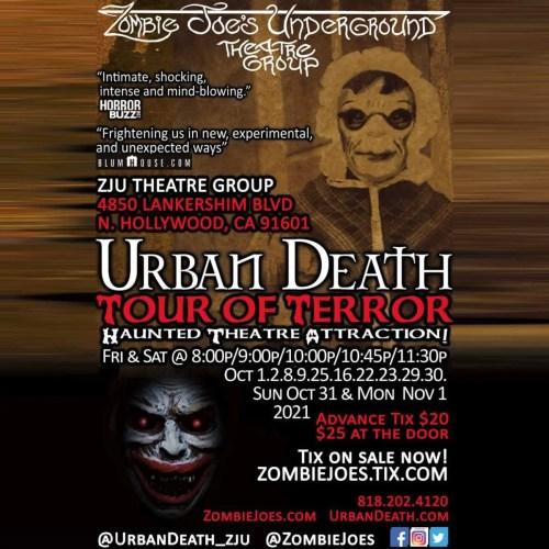 Zombie Joes Underground Theatre Company - Urban Death Tour of Terror - ZJU - Los Angeles - CA - Immersive Horror