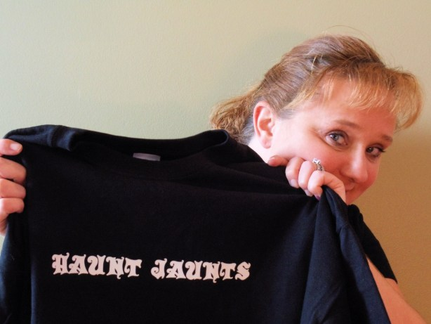 A very excited me with my shirt!