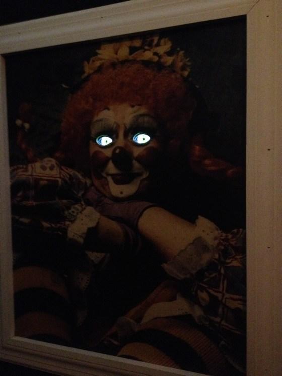Creepy clown eyes in Fun House