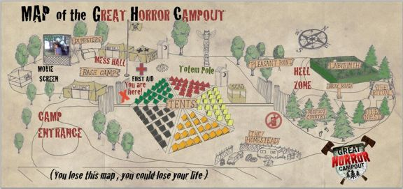 Great Horror Campout Map