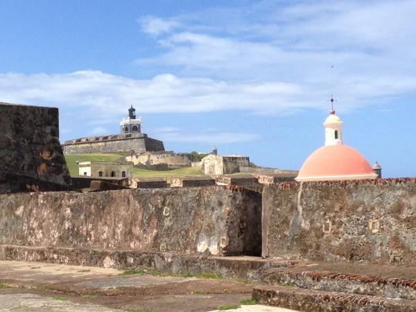 Top of El Morro Mausoleum