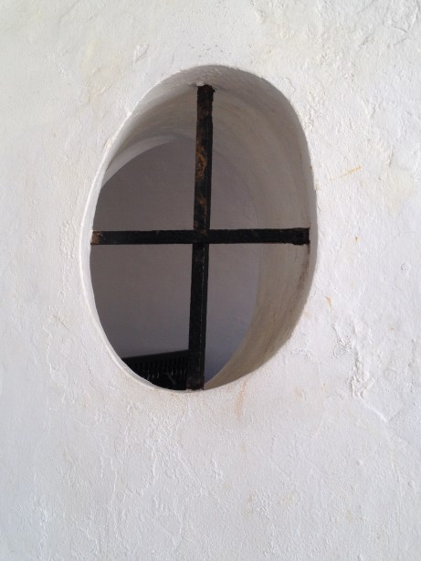 Example of a window within the fort's walls