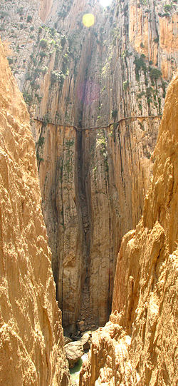 Ground-level view of El Caminito del Rey - Image from Wikipedia