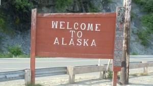 Alaska Welcome Sign