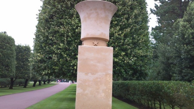 Normandy American Cemetery entrance column