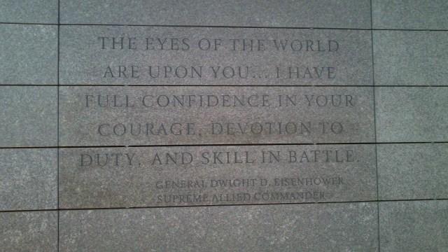 Eisenhower quote inside visitor center