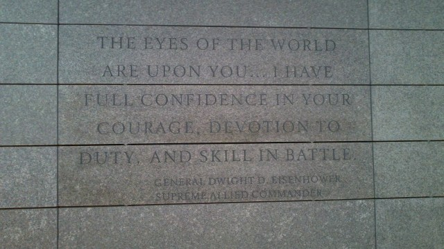 Eisenhower quote inside visitor center