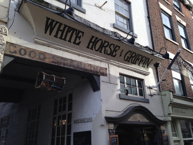 The White Horse and Griffin Inn, more or less as Dickens would have seen it when he dined there Photo: Paul Fitz-George