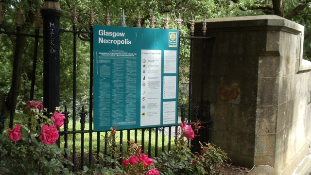 Glasgow Necropolis Entrance