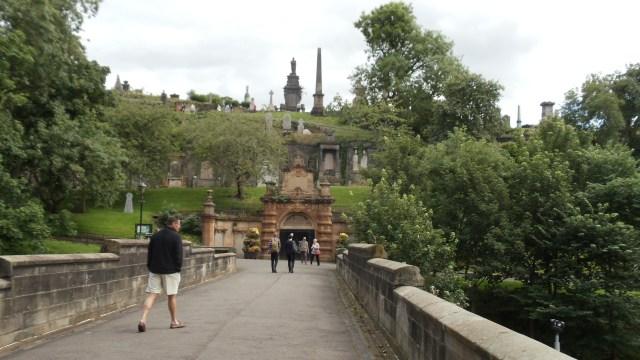 Entering Glasgow Necropolis
