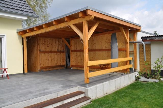Schimmel Pilz Am Holz Dach Der Terrassenberdachung