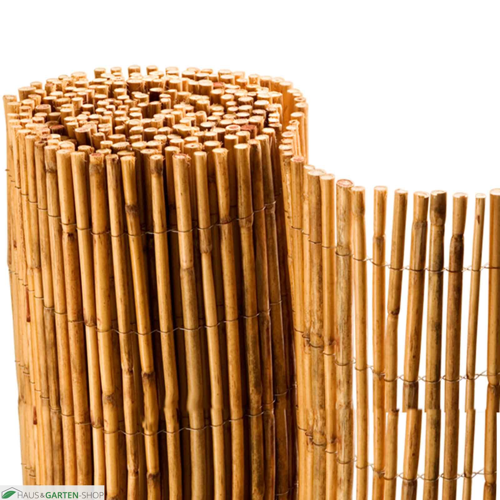 Bambusmatte Bangkog Bambus Sichtschutz Verzinkten Draht