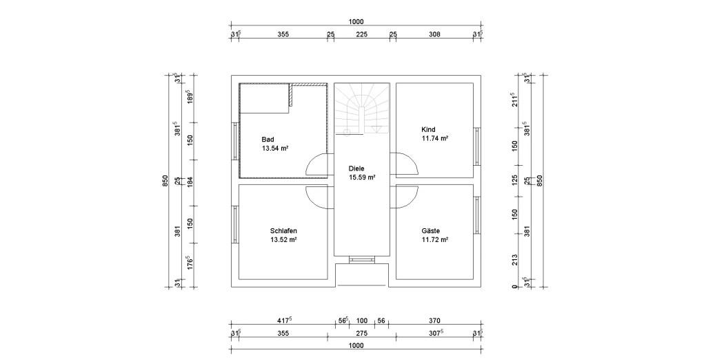 Dachgeschoss mit dem 3D Planer