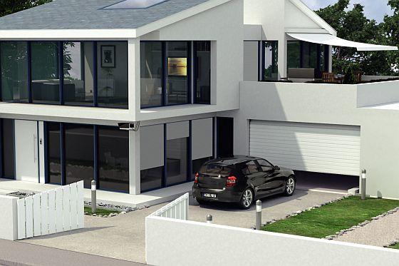 Aus dem Auto direkt ins Haus: Garagen mit fester Verbindung zum Haus und automatische Torantriebe nehmen schlechtem Wetter seinen Schrecken. (Foto: djd/Sommer Antriebs- und Funktechnik)