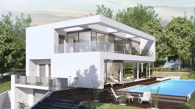 Fertighäuser von heute sind individuell und energieeffizient. Im Bild ein Haus, welches von OKAL Haus in Zusammenarbeit mit den Bauherren entworfen wurde. (Foto Okal Haus GmbH)