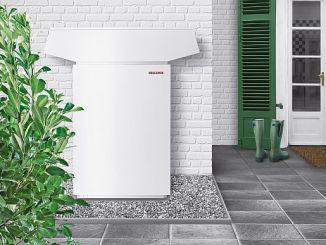 So kann die Außenaufstellung einer Luft- Wasser- Wärmepumpe aussehen. (Foto: Stiebel Eltron)