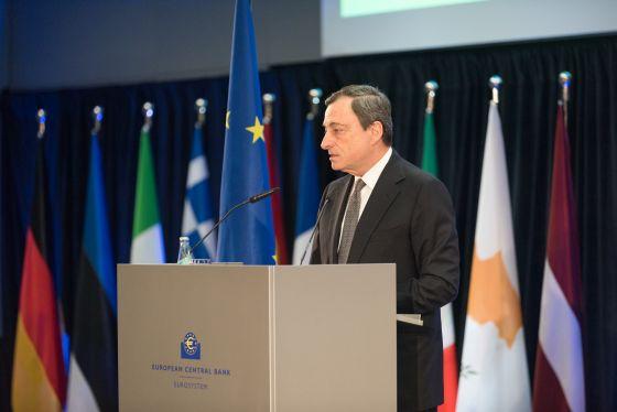 Mario Draghi bei der Eröffnung der EZB-Zentrale in Frankfurt (Foto: Europäische Zentralbank)