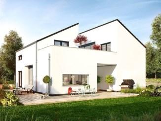 """Ein AktivPlus-Musterhaus der DFH-Marke OKAL entsteht derzeit in Bad Vilbel in der Ausstellung """"Eigenheim und Garten"""". (Foto: OKAL Haus GmbH)"""