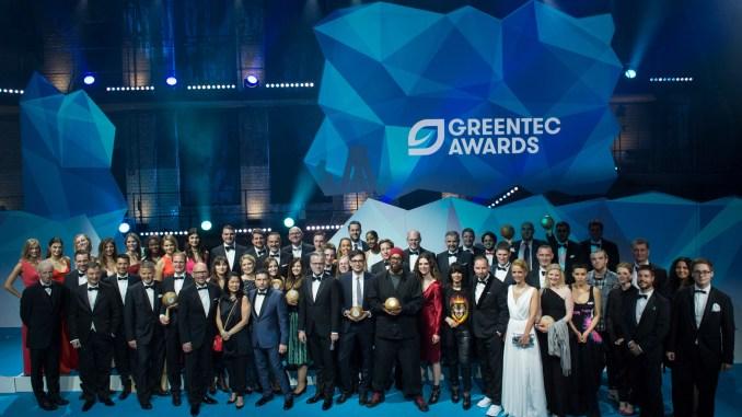 Die Preisträger des GreenTec Award 2017 - mit dabei Jury-Mitglied Wilfried Bolz (Foto: GreenTec Award)