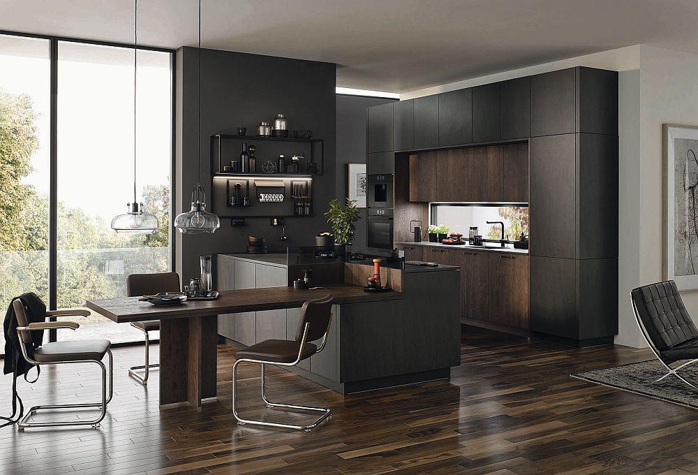 Offene Küche mit fließenden Übergängen zum Wohnraum