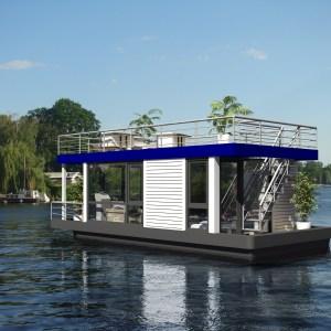 Hausboot ohne Rutsche