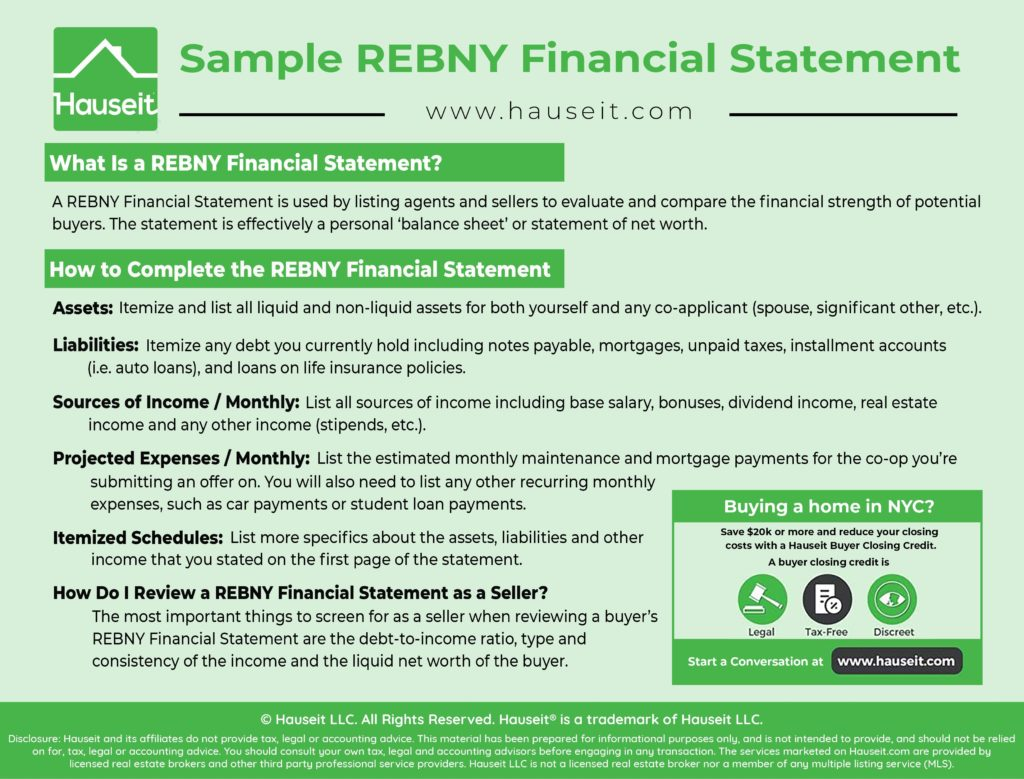 What Is A Rebny Financial Statement