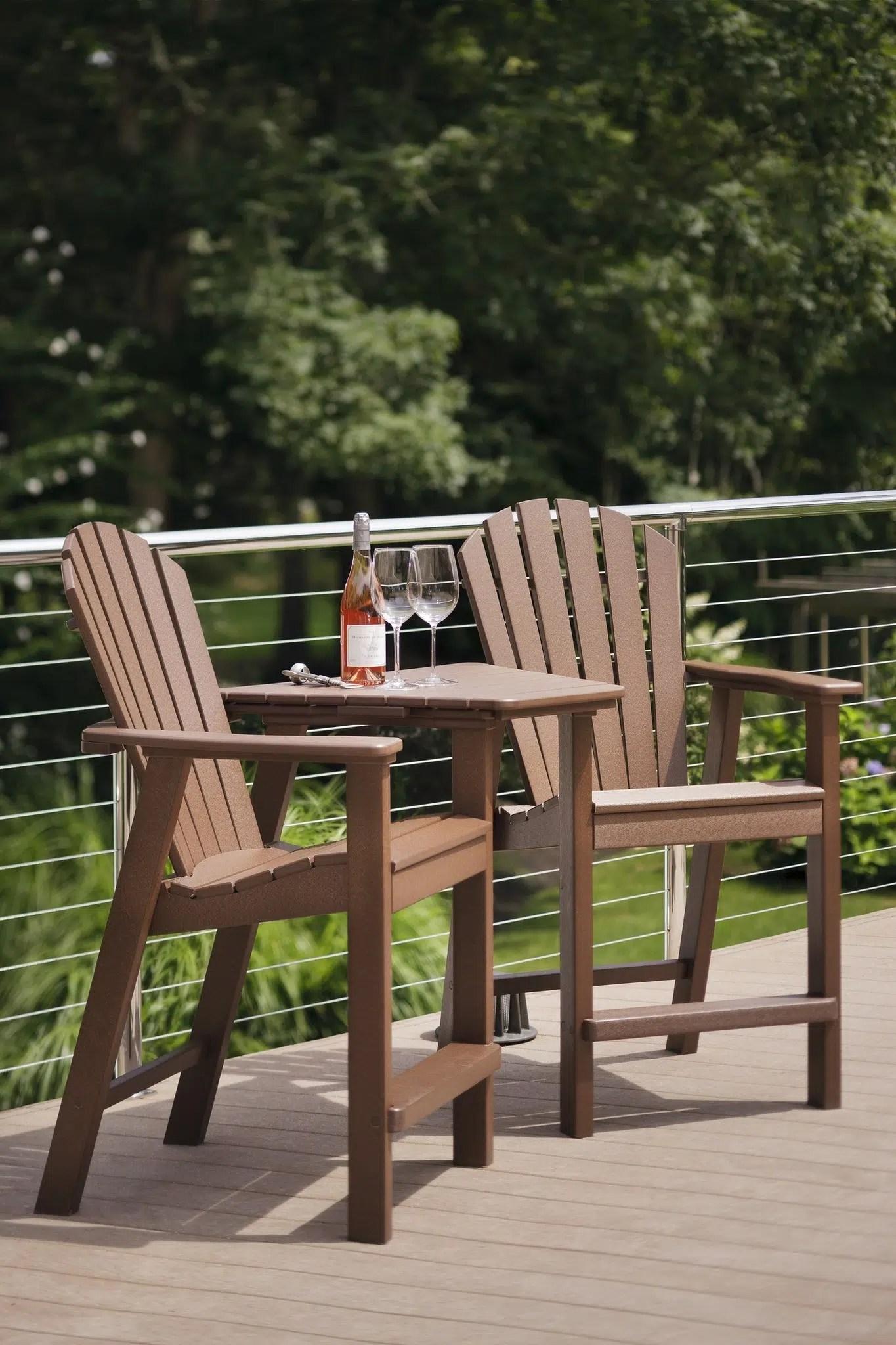 Adirondack Shellback Balcony Chair Hauser S Patio