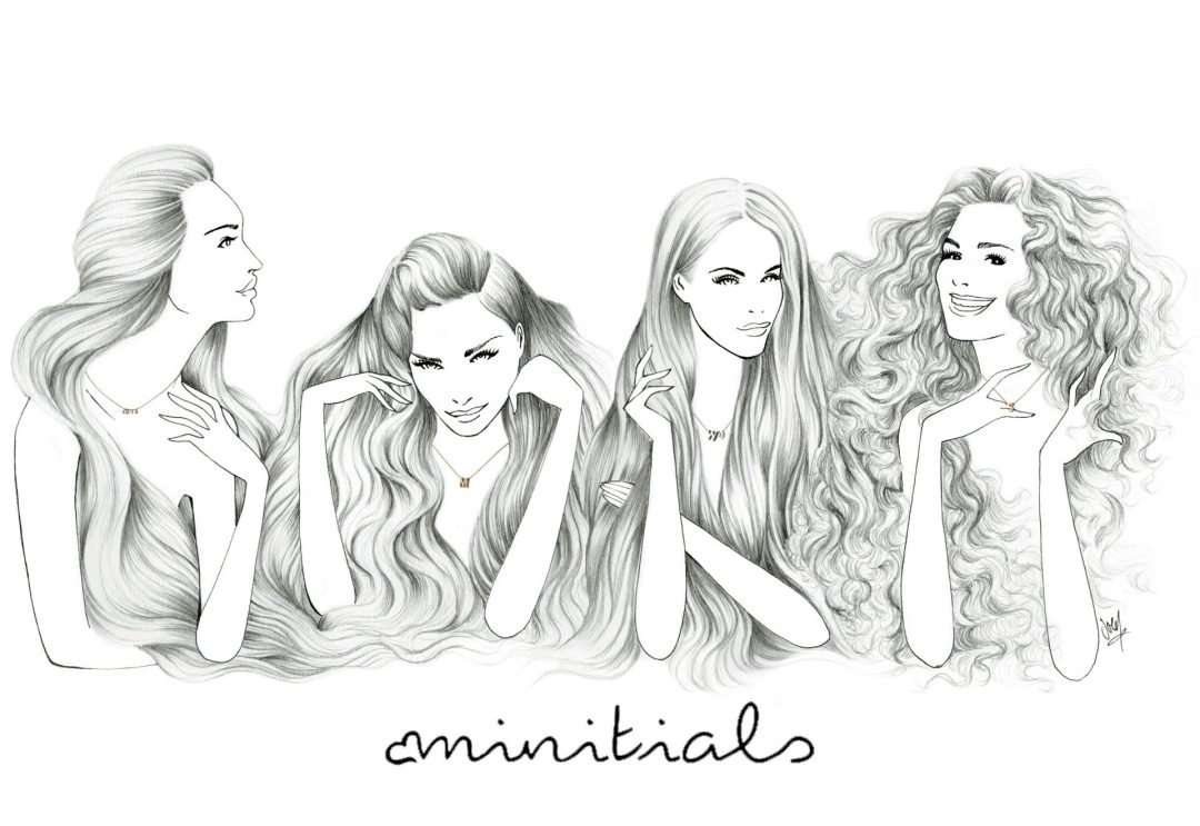 women with long hair illustration