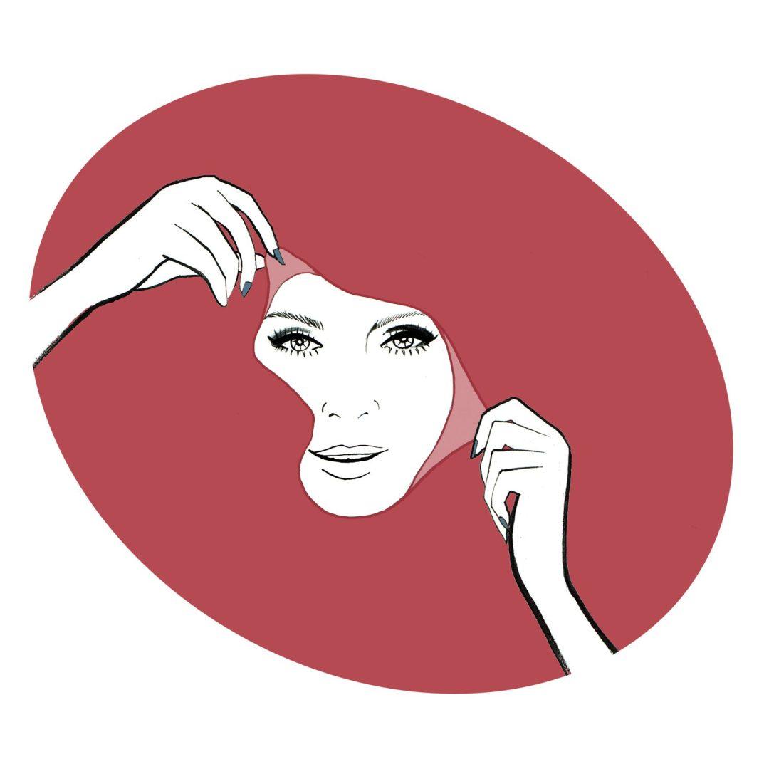 Masque beauty illustration