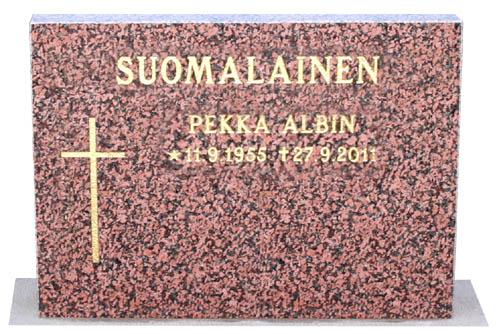 Punainen hautakivi 80 x 60 999 €