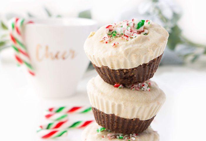 No Bake Vegan Chocolate Peppermint Cheesecake Cups Haute Healthy