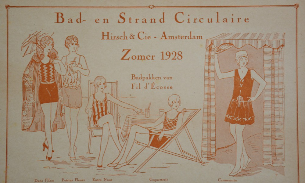 catalogus bad- en strandcirculaire Hirsch zomer 1928