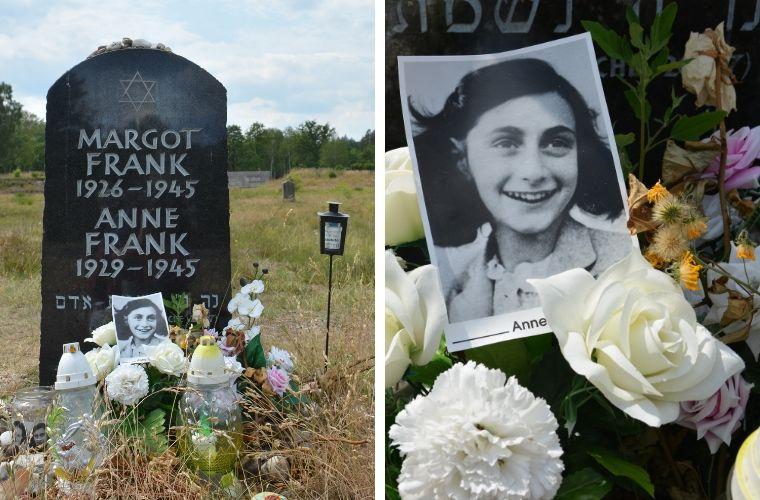 Symbolisch graf van Anne Frank