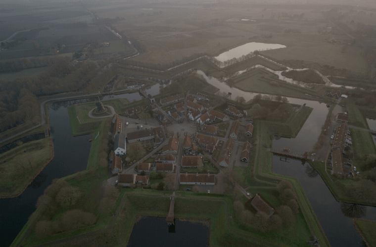 Historicus Femke Knoop over Bourtange in Europe from Above op National Geographic