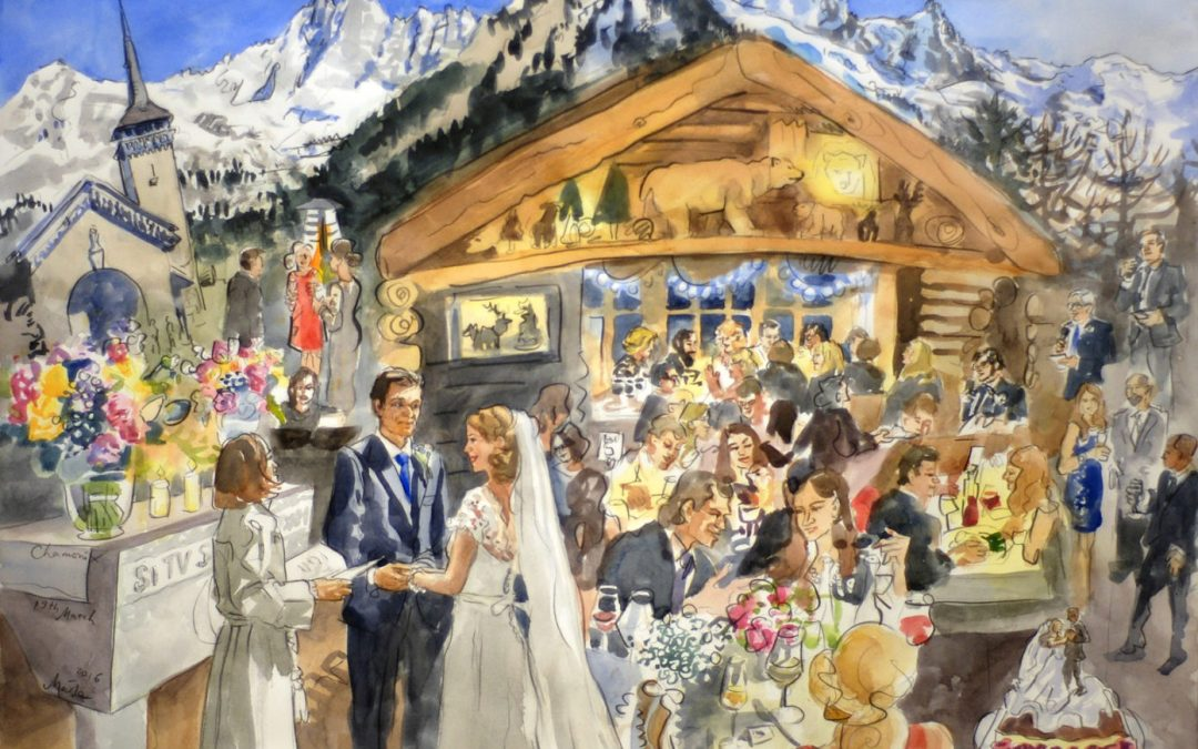 Live Painting of Your Wedding