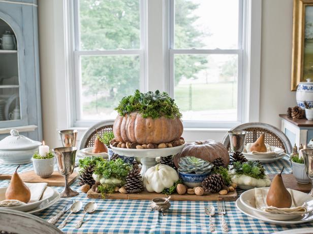 Pumpkins and Succulents