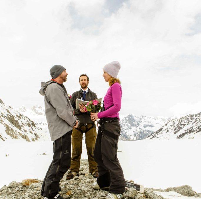 Ski Elopement: Groom didn't know!