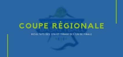 Coupe Régionale : les qualifiés pour les 1/8 de finale.
