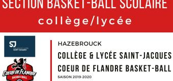 Une Section Basketball Scolaire à Hazebrouck !