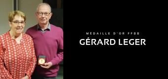 Gerard LEGER reçoit la Médaille d'Or de la FFBB