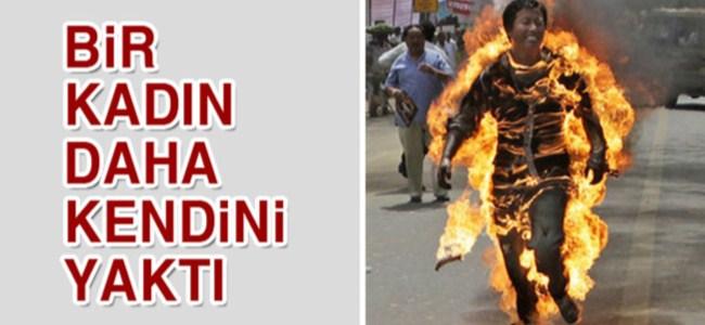 Protesto etmek için kendini yaktı