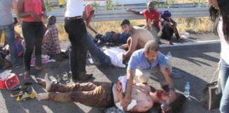 Şanlıurfa'da DAÜ öğrencileri kaza yaptı
